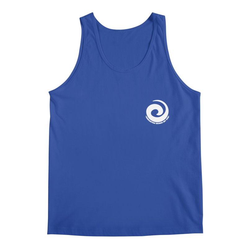Prescription Records Small Logo (White) Men's Regular Tank by HiFi Brand