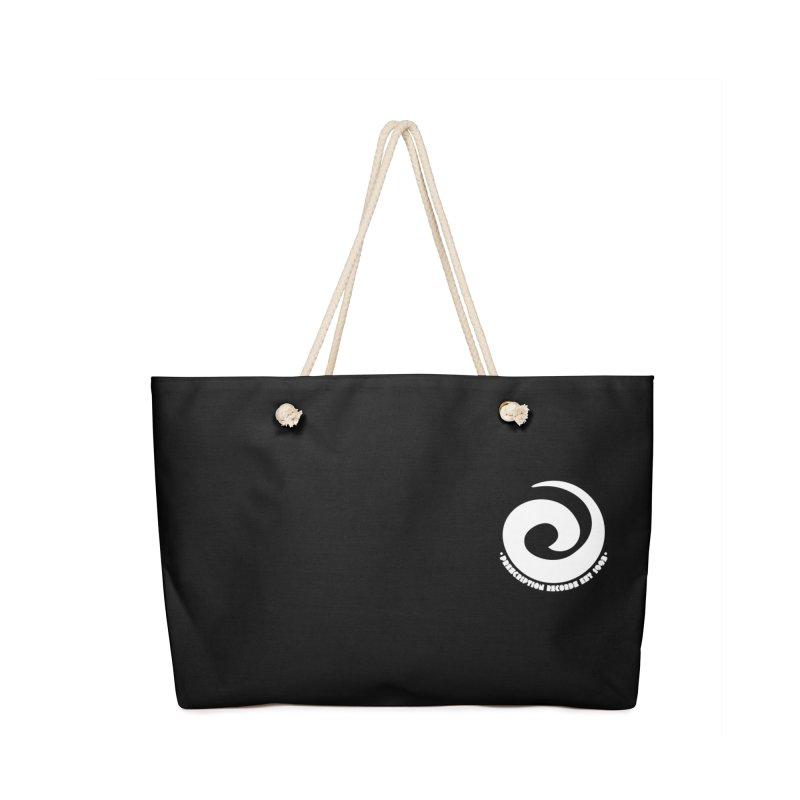 Prescription Records Small Logo (White) Accessories Bag by HiFi Brand