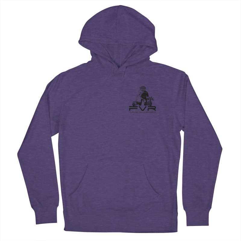 Future Vision Small Logo (Black) Women's French Terry Pullover Hoody by HiFi Brand