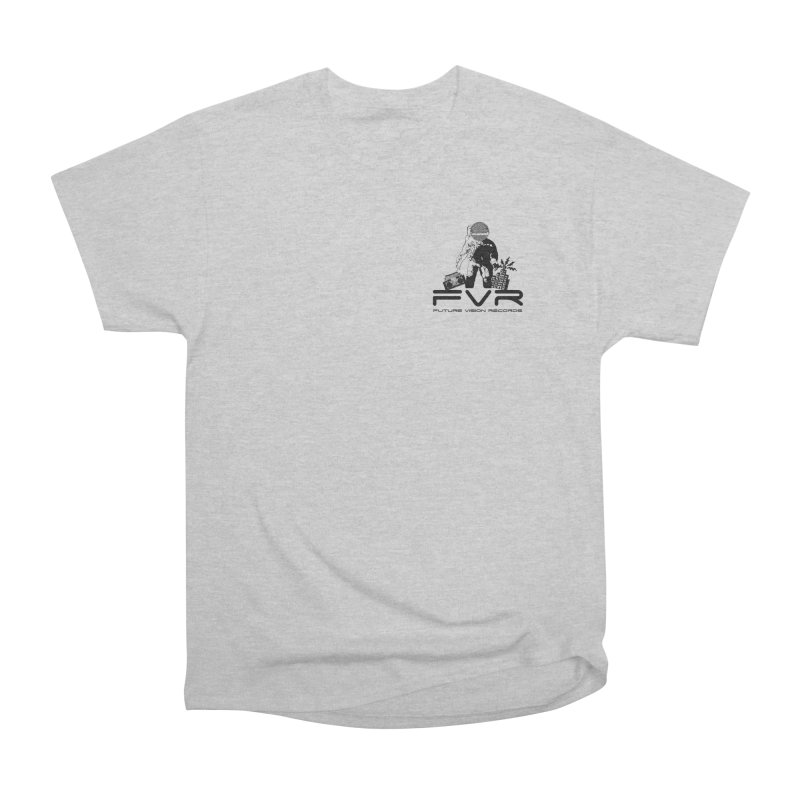 Future Vision Small Logo (Black) Men's Heavyweight T-Shirt by HiFi Brand