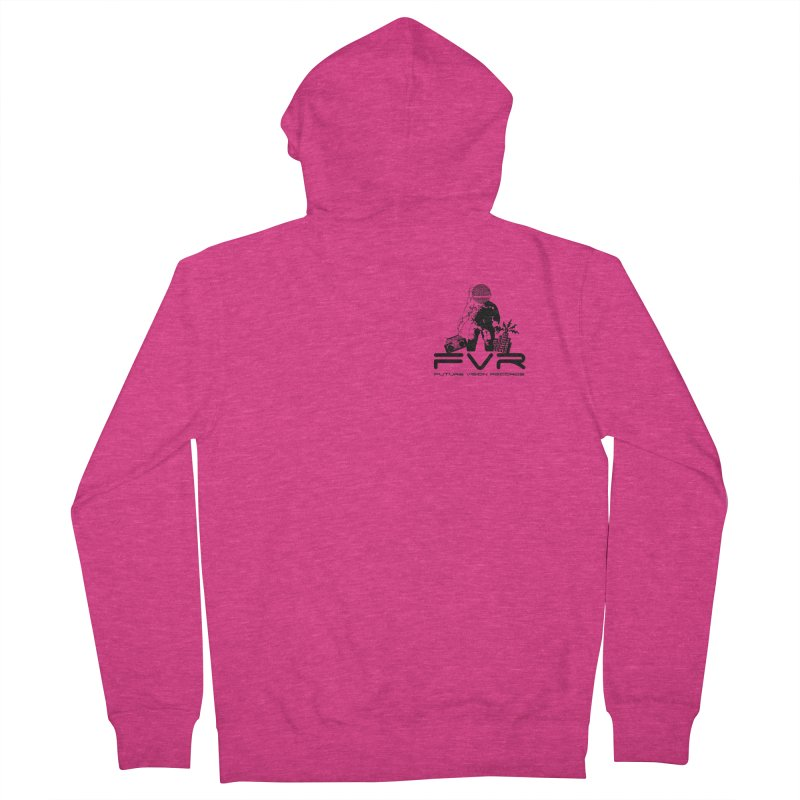 Future Vision Small Logo (Black) Women's French Terry Zip-Up Hoody by HiFi Brand