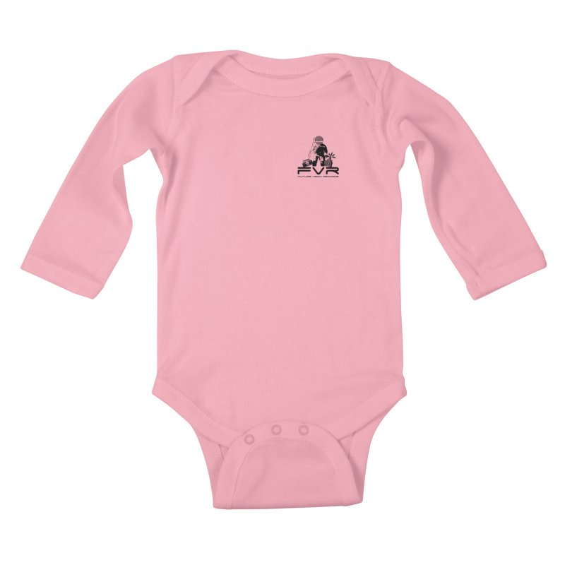 Future Vision Small Logo (Black) Kids Baby Longsleeve Bodysuit by HiFi Brand