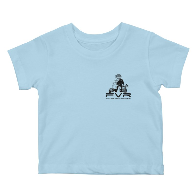 Future Vision Small Logo (Black) Kids Baby T-Shirt by HiFi Brand