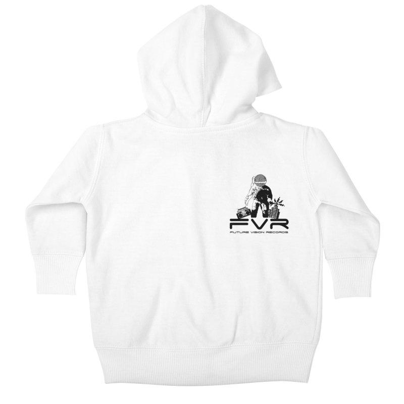 Future Vision Small Logo (Black) Kids Baby Zip-Up Hoody by HiFi Brand