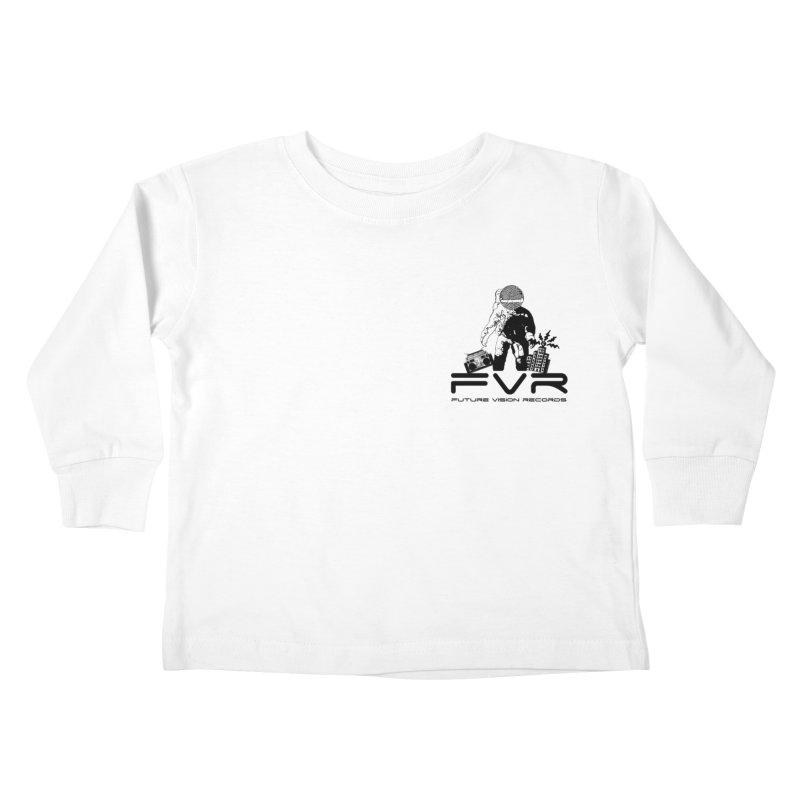Future Vision Small Logo (Black) Kids Toddler Longsleeve T-Shirt by HiFi Brand