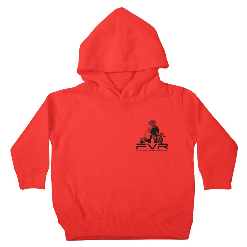 Future Vision Small Logo (Black) Kids Toddler Pullover Hoody by HiFi Brand