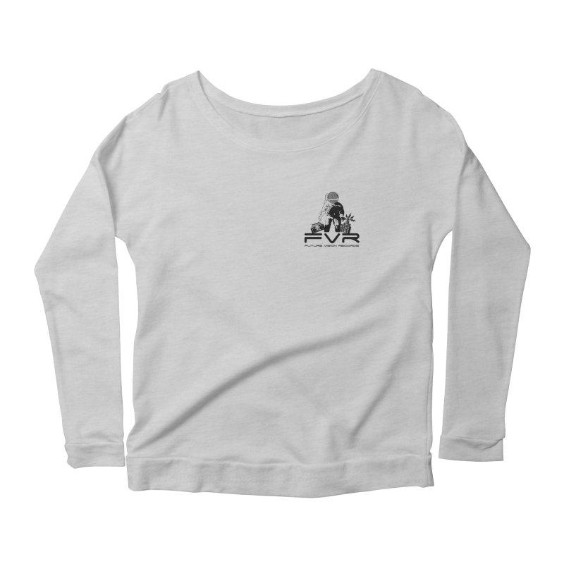Future Vision Small Logo (Black) Women's Scoop Neck Longsleeve T-Shirt by HiFi Brand