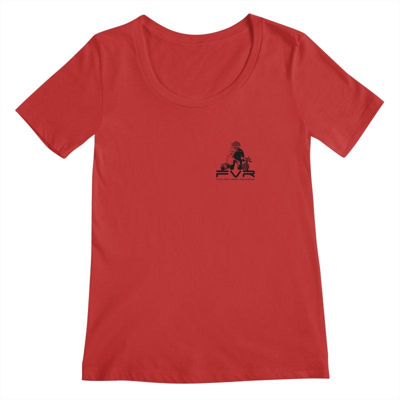 Future Vision Small Logo (Black) Women's Regular Scoop Neck by HiFi Brand