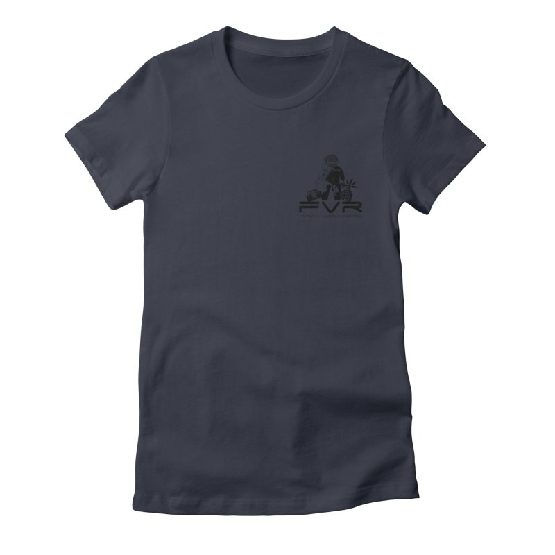 Future Vision Small Logo (Black) Women's Fitted T-Shirt by HiFi Brand