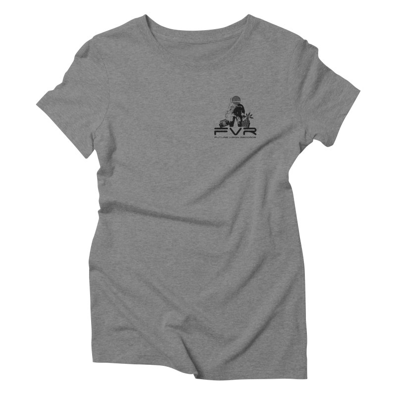 Future Vision Small Logo (Black) Women's Triblend T-Shirt by HiFi Brand
