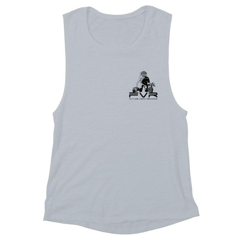Future Vision Small Logo (Black) Women's Muscle Tank by HiFi Brand