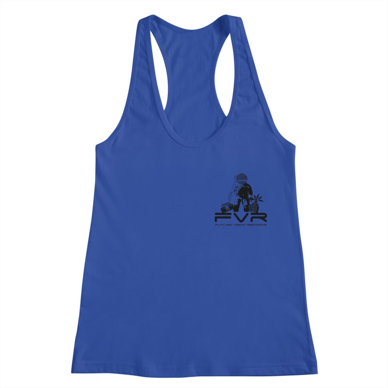 Future Vision Small Logo (Black) Women's Racerback Tank by HiFi Brand