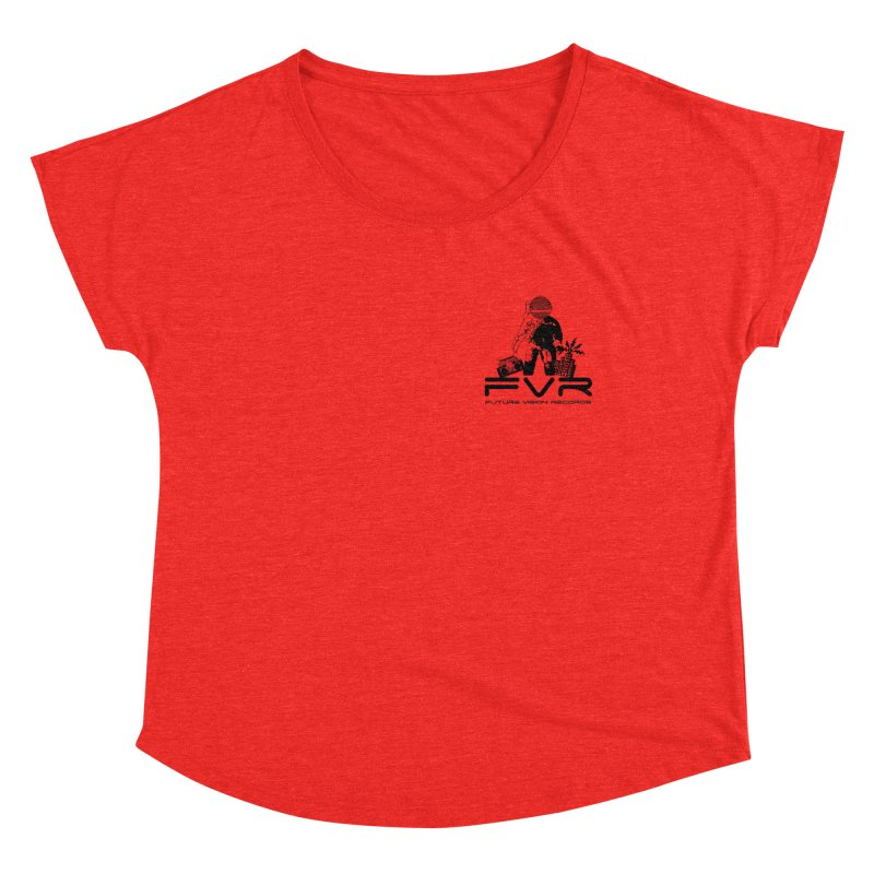 Future Vision Small Logo (Black) Women's Scoop Neck by HiFi Brand