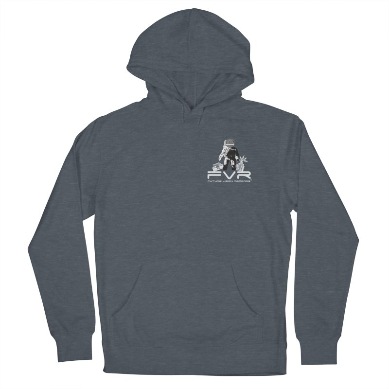 Future Vision Records Small Logo (White) Women's French Terry Pullover Hoody by HiFi Brand