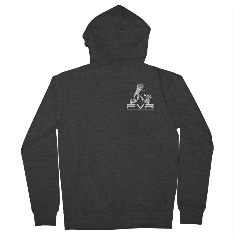 Future Vision Records Small Logo (White) Women's Zip-Up Hoody by HiFi Brand