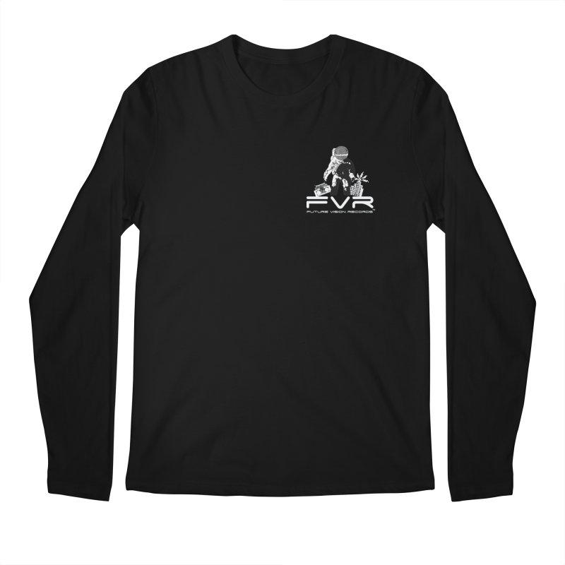 Future Vision Records Small Logo (White) Men's Longsleeve T-Shirt by HiFi Brand
