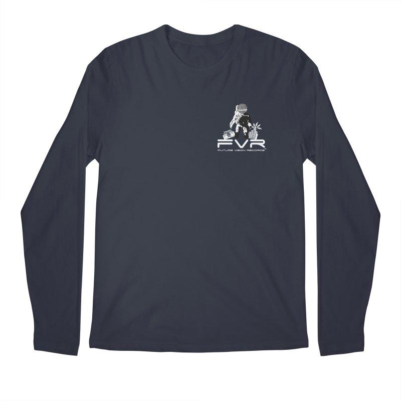 Future Vision Records Small Logo (White) Men's Regular Longsleeve T-Shirt by HiFi Brand