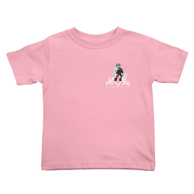 Future Vision Records Small Logo (White) Kids Toddler T-Shirt by HiFi Brand