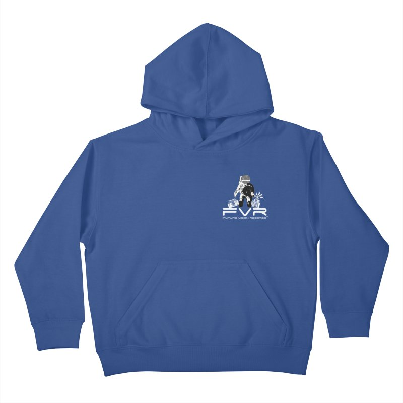 Future Vision Records Small Logo (White) Kids Pullover Hoody by HiFi Brand