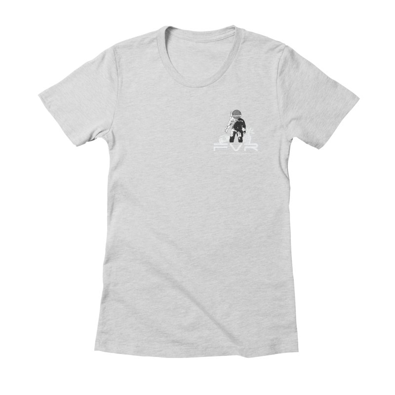 Future Vision Records Small Logo (White) Women's Fitted T-Shirt by HiFi Brand