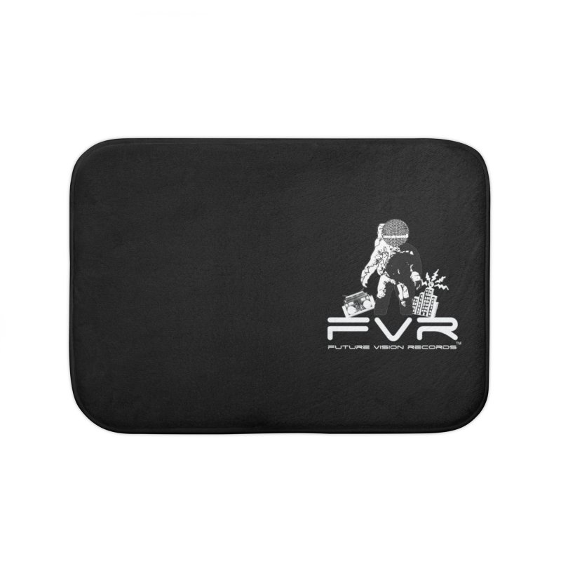 Future Vision Records Small Logo (White) Home Bath Mat by HiFi Brand