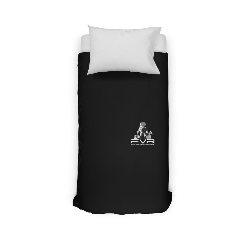 Future Vision Records Small Logo (White) Home Duvet by HiFi Brand