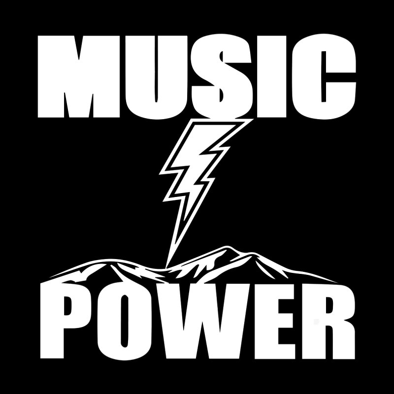 MUSICANDPOWER Big Logo (White) Kids Toddler T-Shirt by HiFi Brand