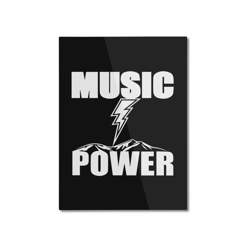 MUSICANDPOWER Big Logo (White) Home Mounted Aluminum Print by HiFi Brand