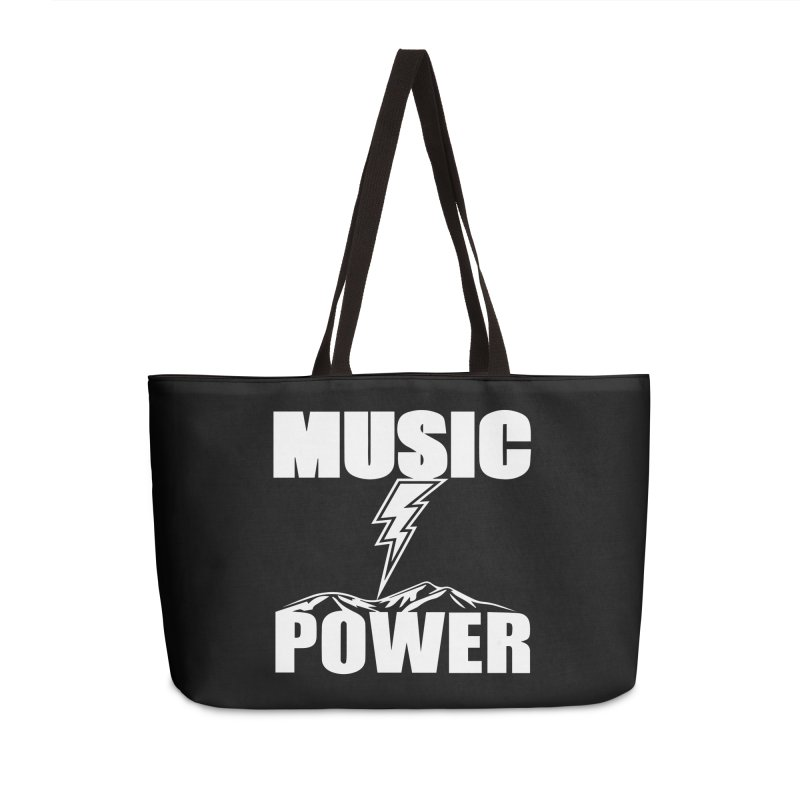 MUSICANDPOWER Big Logo (White) Accessories Bag by HiFi Brand
