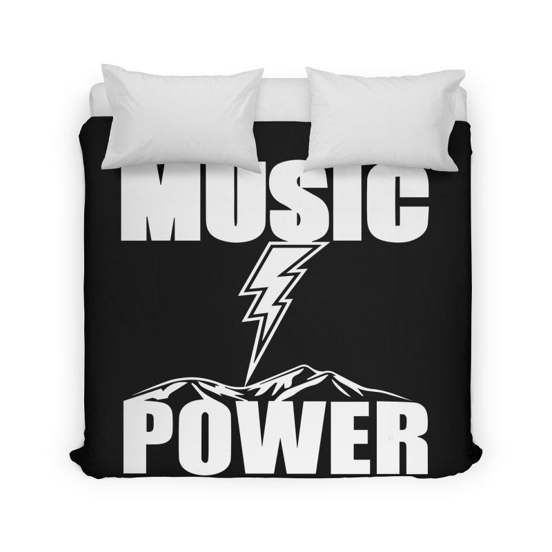 MUSICANDPOWER Big Logo (White) Home Duvet by HiFi Brand
