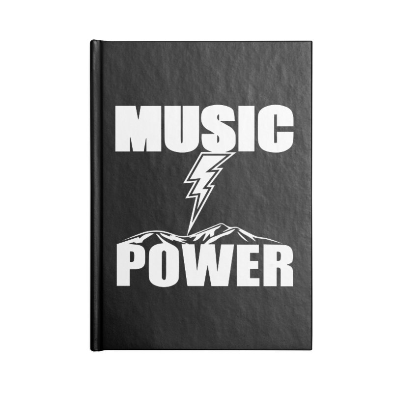 MUSICANDPOWER Big Logo (White) Accessories Lined Journal Notebook by HiFi Brand