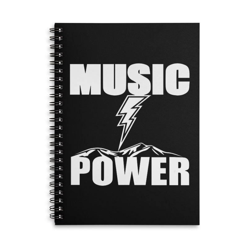 MUSICANDPOWER Big Logo (White) Accessories Lined Spiral Notebook by HiFi Brand