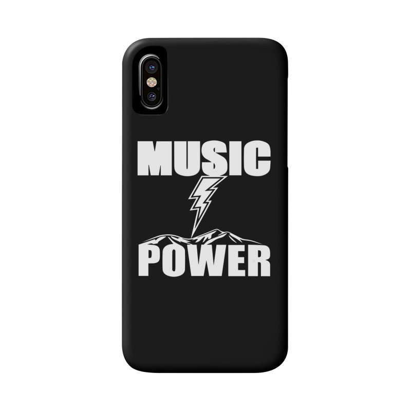 MUSICANDPOWER Big Logo (White) Accessories Phone Case by HiFi Brand