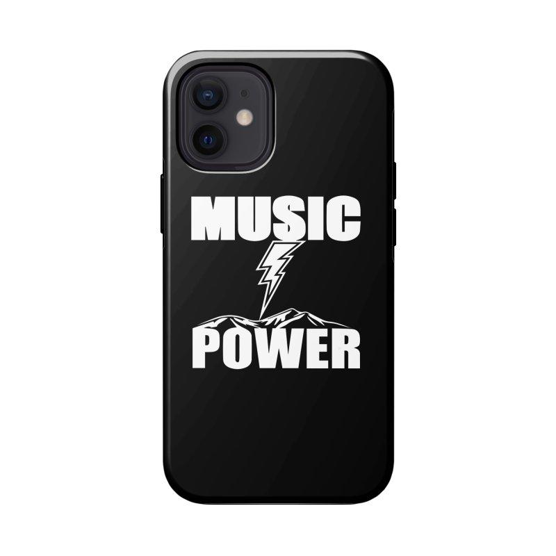 MUSICANDPOWER Big Logo (White) Accessories Phone Case by HiFi Brand