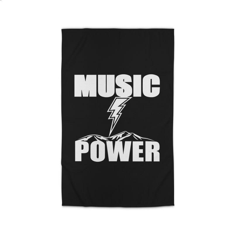 MUSICANDPOWER Big Logo (White) Home Rug by HiFi Brand