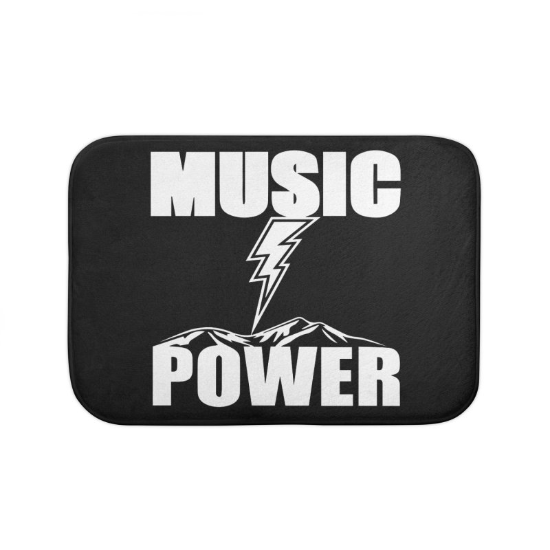 MUSICANDPOWER Big Logo (White) Home Bath Mat by HiFi Brand