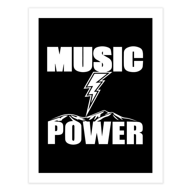 MUSICANDPOWER Big Logo (White) Home Fine Art Print by HiFi Brand