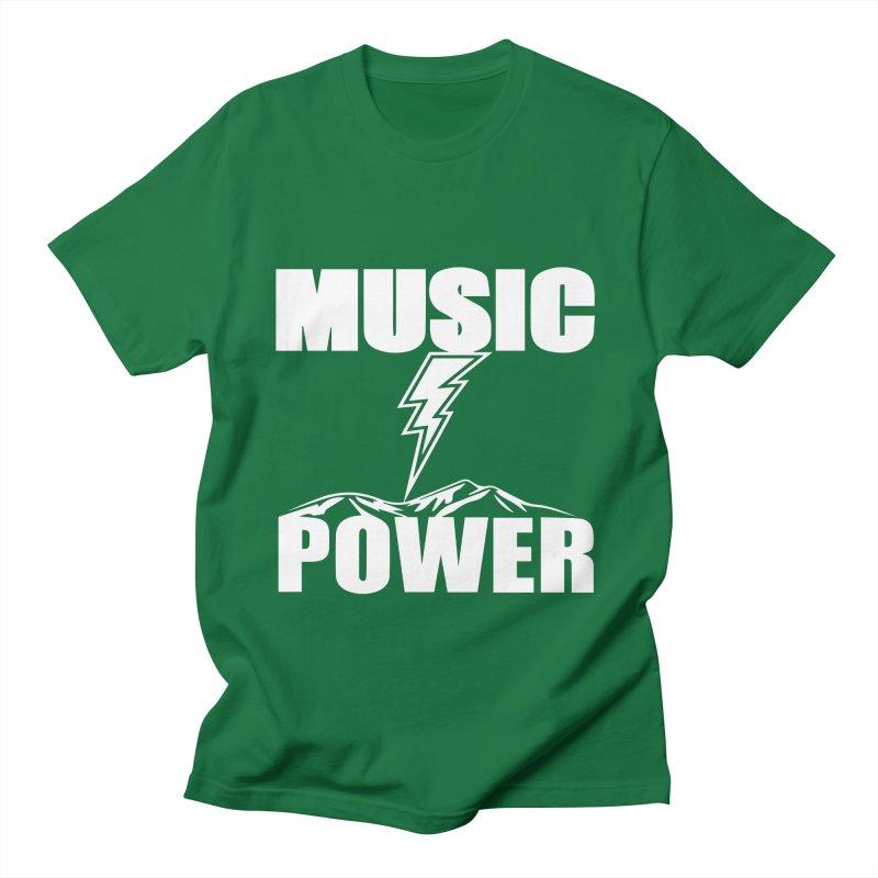 MUSICANDPOWER Big Logo (White) Men's T-Shirt by HiFi Brand