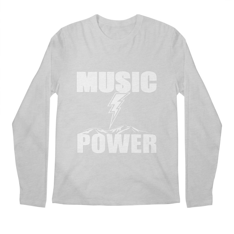 MUSICANDPOWER Big Logo (White) Men's Regular Longsleeve T-Shirt by HiFi Brand