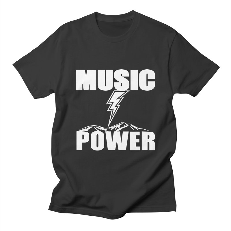 MUSICANDPOWER Big Logo (White) Men's T-Shirt by HiFi Brand
