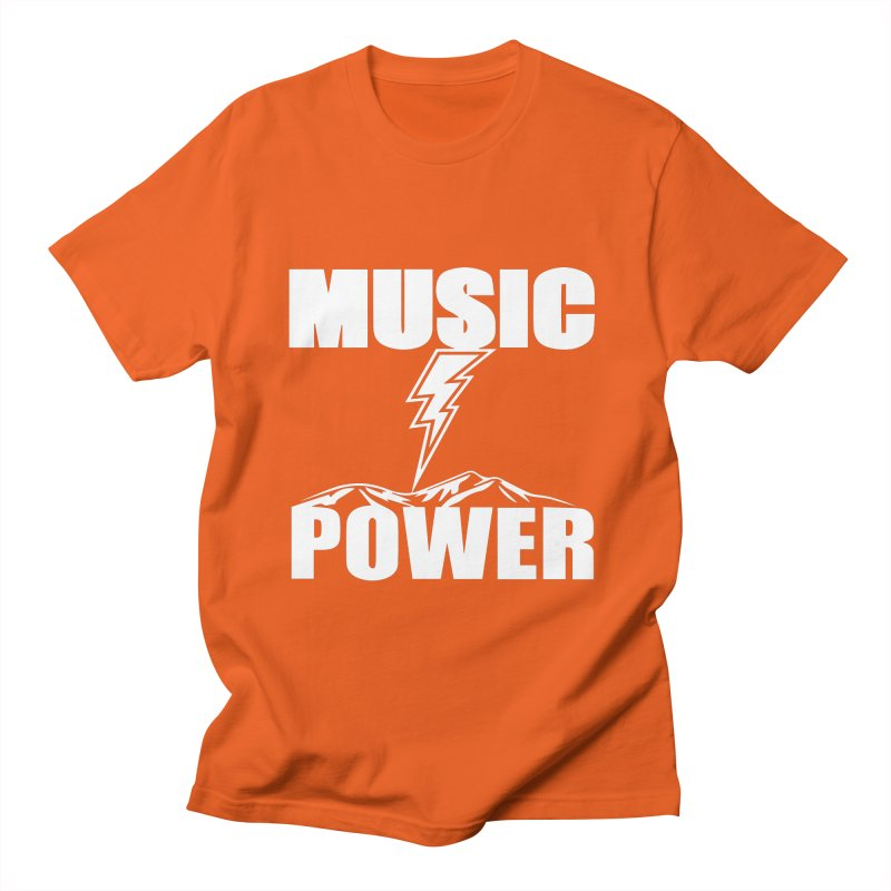 MUSICANDPOWER Big Logo (White) Women's T-Shirt by HiFi Brand