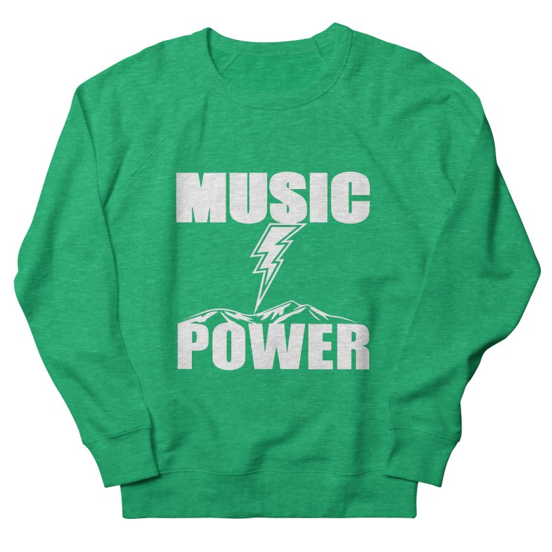 MUSICANDPOWER Big Logo (White) Women's Sweatshirt by HiFi Brand