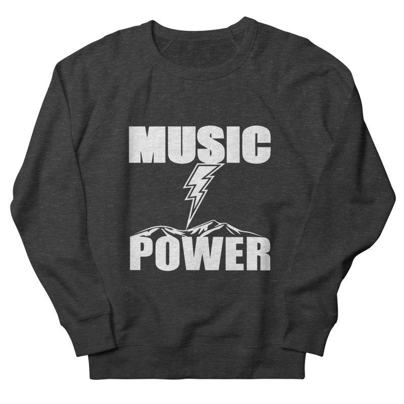 MUSICANDPOWER Big Logo (White) Women's Sweatshirt by HiFi Brand