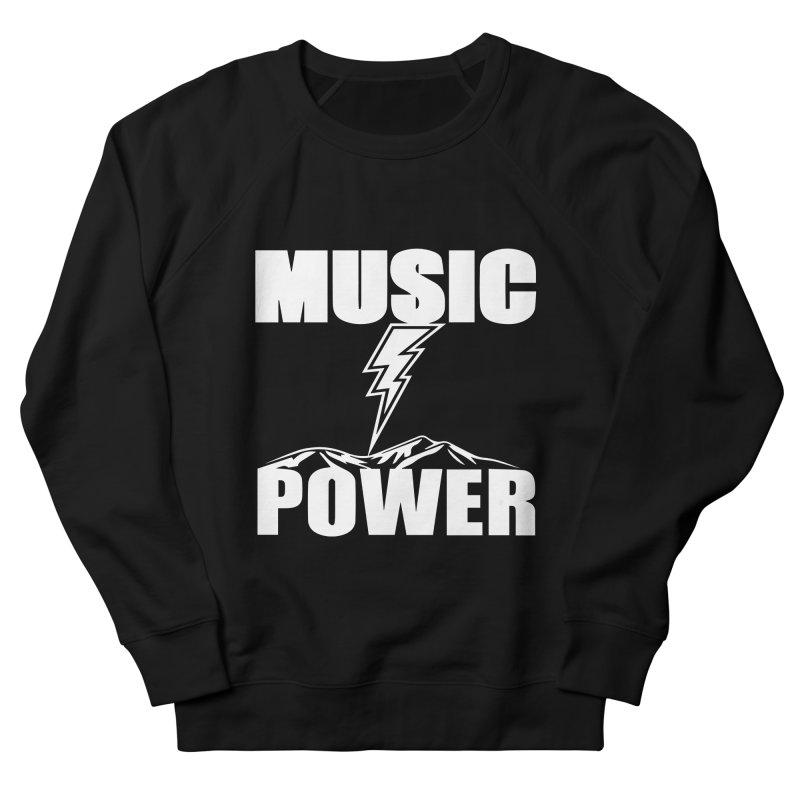 MUSICANDPOWER Big Logo (White) Women's French Terry Sweatshirt by HiFi Brand