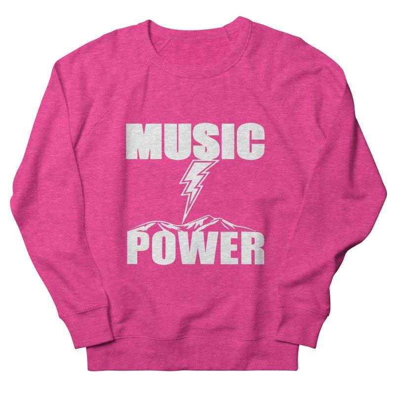 MUSICANDPOWER Big Logo (White) Men's French Terry Sweatshirt by HiFi Brand