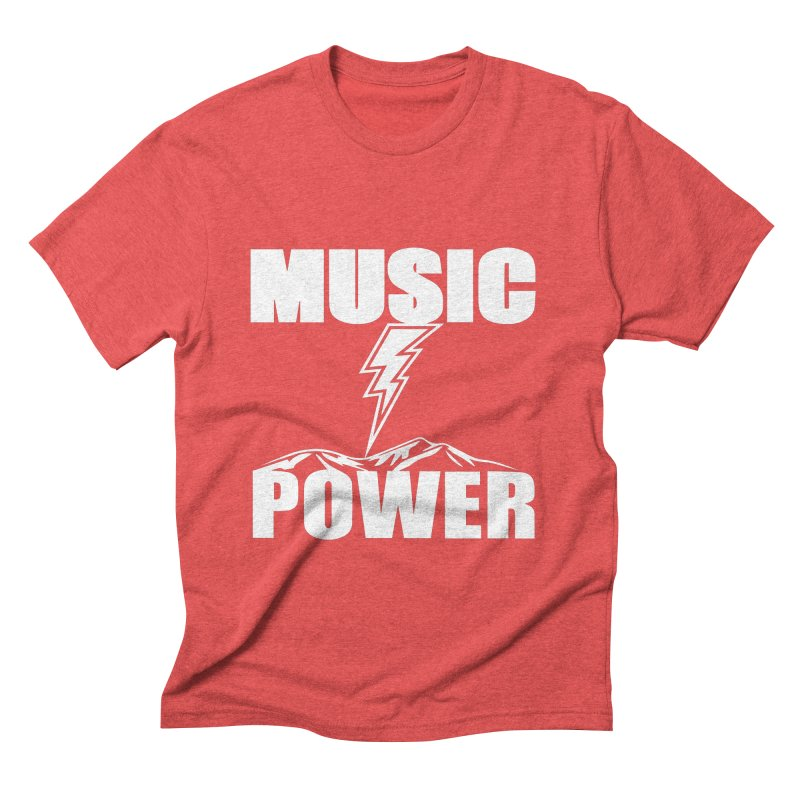 MUSICANDPOWER Big Logo (White) Men's Triblend T-Shirt by HiFi Brand