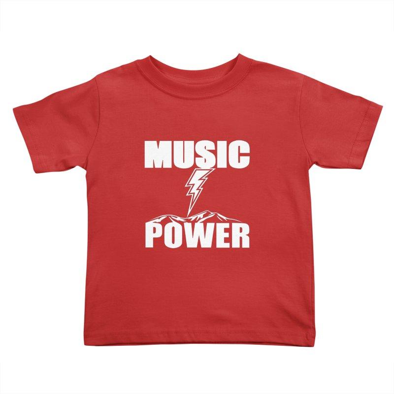 MUSICANDPOWER Big Logo (White) Kids Toddler T-Shirt by HiFi Brand