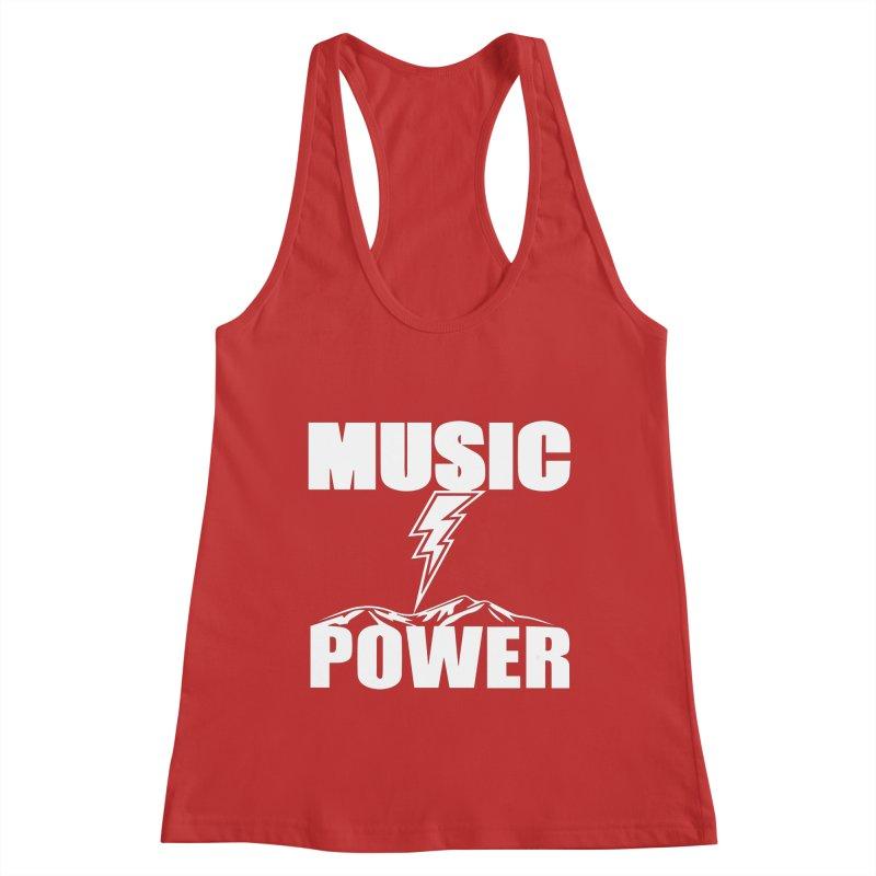 MUSICANDPOWER Big Logo (White) Women's Tank by HiFi Brand