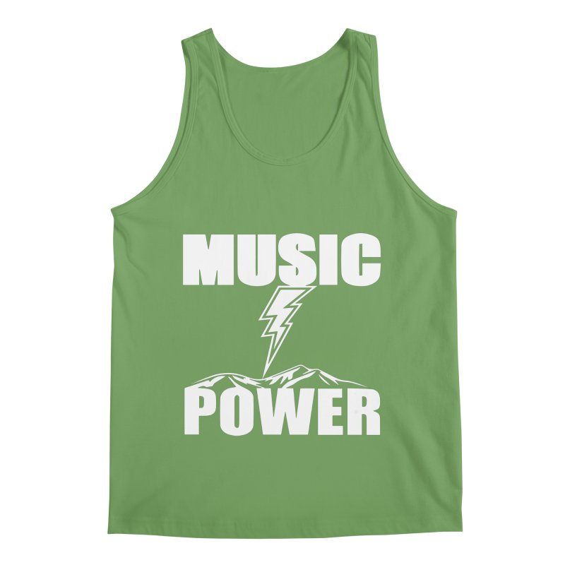 MUSICANDPOWER Big Logo (White) Men's Tank by HiFi Brand