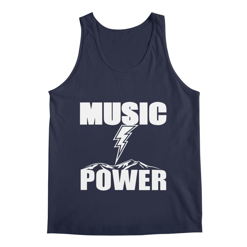 MUSICANDPOWER Big Logo (White) Men's Tank by HiFi Brand